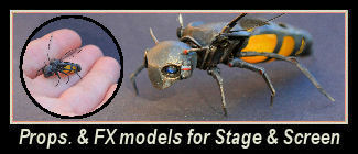 Varied creative work, scale models, FX work and prop making projects for TV, Film and Theatre.